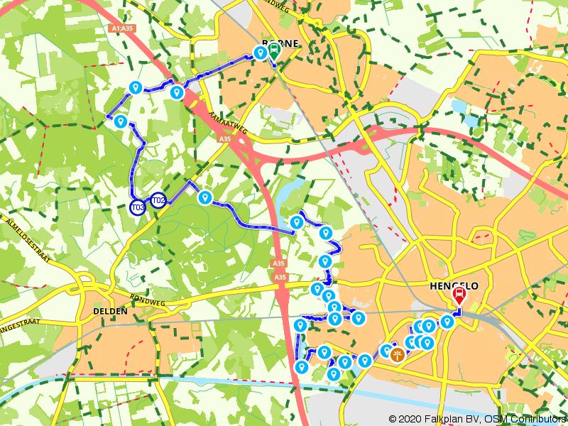 Treinwandelen Borne-Hengelo via Tuindorp 't Lansink
