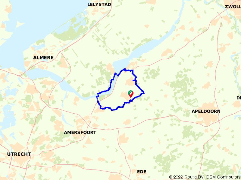 Fietsroute Horsterwold en Veluwe