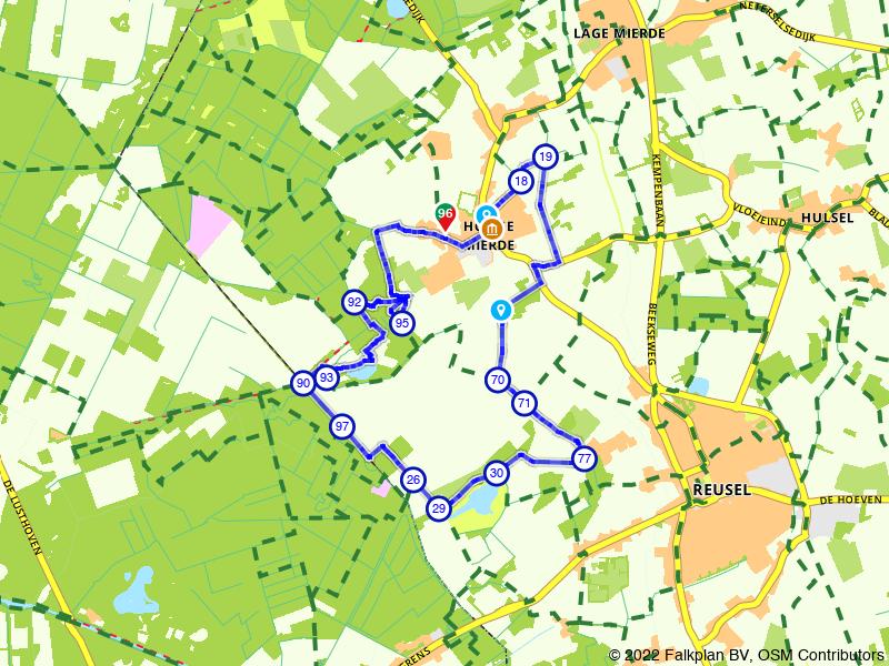 Vanuit Hooge Mierde naar de Belgische grens