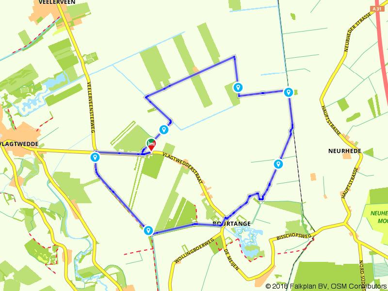 Wandelroute door het buitengebied van Bourtange
