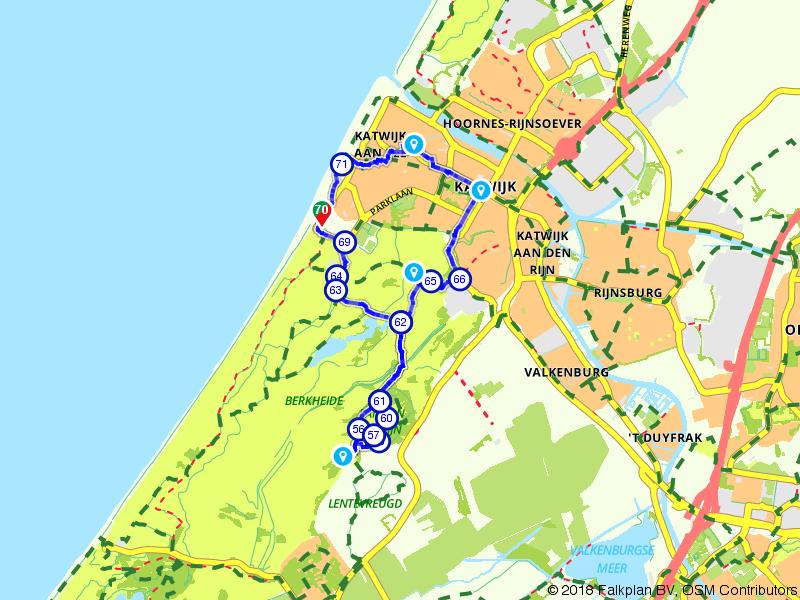 Wandelroute - Katwijk van Oranje