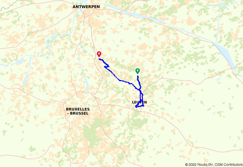 Vlaamse Meesters route etappe 9