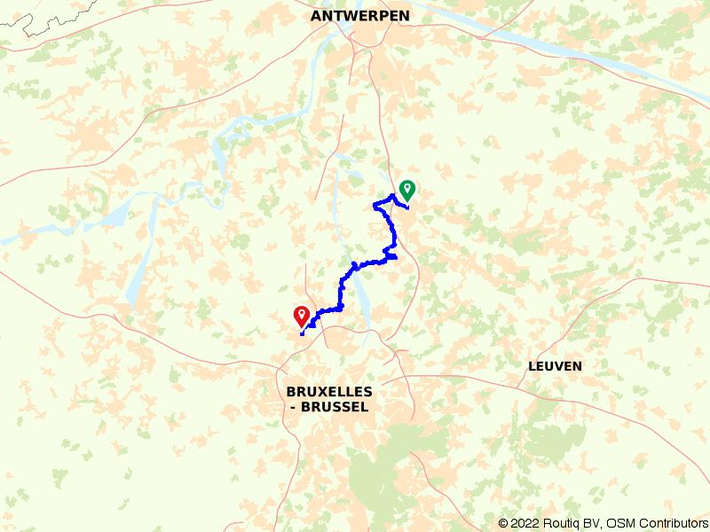 Vlaamse Meesters route etappe 10