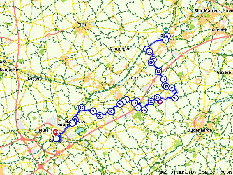 Vlaamse Meesters route etappe 16