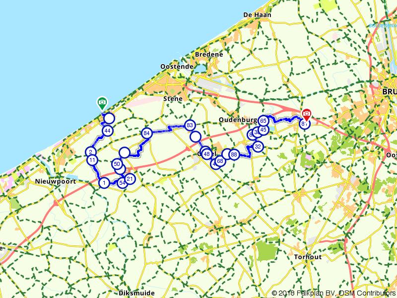 Vlaamse Meesters route etappe 22