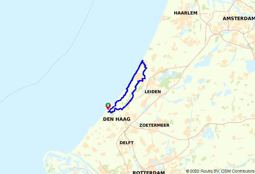 Door de duinen van Scheveningen naar Noordwijk