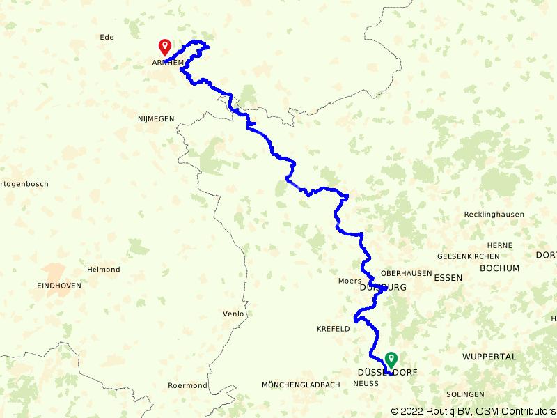 Von Uffenbach Route deel 1 (Dusseldorf - Arnhem)