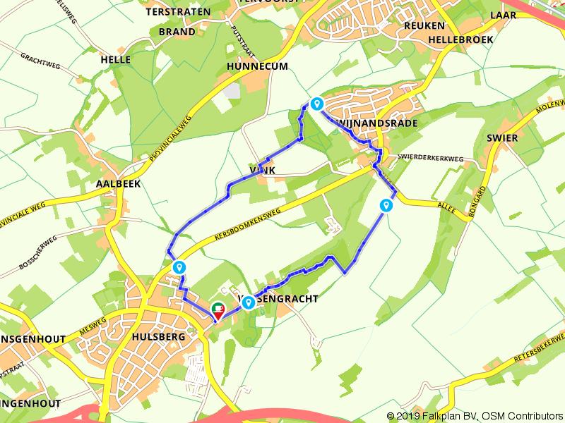 Korte wandeling tussen Hulsberg en Wijnandsrade