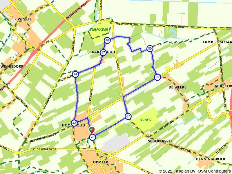 Korte wandeling rondom Hoogwoud