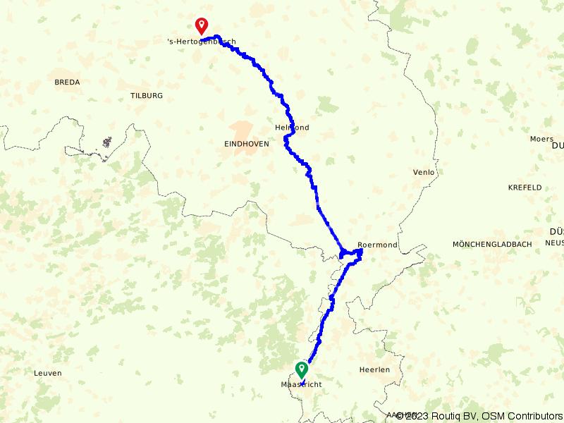 Etappe Maastricht - 's-Hertogenbosch