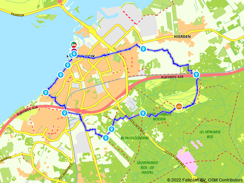 Wandelroute Harderwijk en de Veluwe