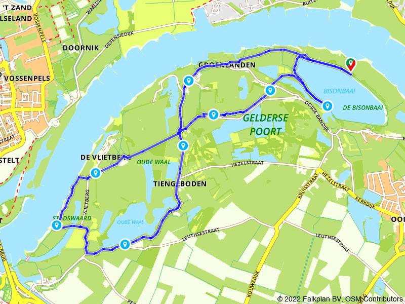 Van Oortjeshekken naar Nijmegen langs rivier en polderlandschap