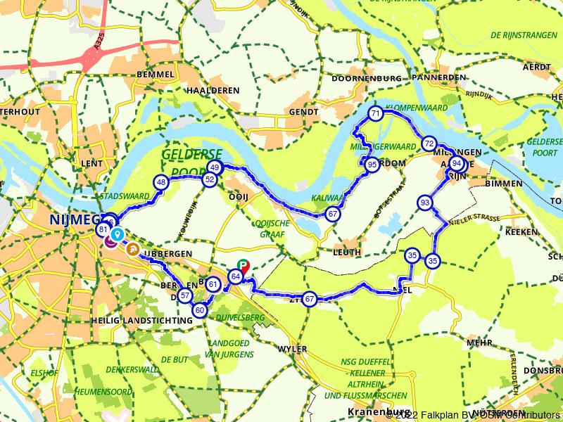Fietsen door rivieren- en polderlandschap in Ooijpolder bij Nijmegen